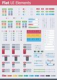 Elementi piani di UI Immagine Stock Libera da Diritti