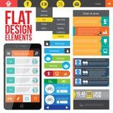 Elementi piani di web design. Fotografie Stock Libere da Diritti