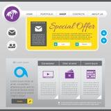 Elementi piani di web design Immagine Stock