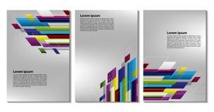 Elementi piani geometrici d'avanguardia variopinti del busine moderno del modello fotografia stock libera da diritti