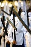 Elementi portanti trasversali nella processione di Semana Santa fotografie stock libere da diritti
