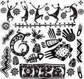 Elementi primitivi di disegno di arte Fotografia Stock