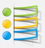 Elementi realistici di disegno Immagini Stock