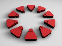 Elementi rossi astratti illustrazione vettoriale