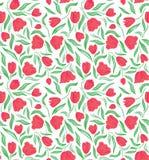 Elementi rossi di vettore della peonia dei papaveri per la stampa sul tessuto Immagini Stock
