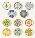 Elementi rotondi di disegno Fotografia Stock