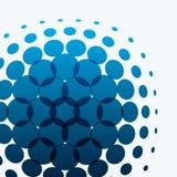 Elementi rotondi di progettazione blu astratta di vettore per il modello grafico Immagine Stock