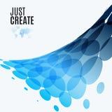 Elementi rotondi di progettazione blu astratta di vettore per il modello grafico Fotografia Stock