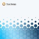 Elementi rotondi di progettazione blu astratta di vettore per il modello grafico Immagine Stock Libera da Diritti