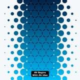 Elementi rotondi di progettazione blu astratta di vettore per il modello grafico Fotografia Stock Libera da Diritti