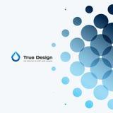 Elementi rotondi di progettazione blu astratta di vettore per il modello grafico Fotografie Stock