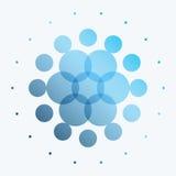 Elementi rotondi di progettazione blu astratta di vettore per il modello grafico Immagini Stock