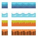 Elementi senza cuciture del paesaggio per progettazione del gioco Fotografia Stock Libera da Diritti