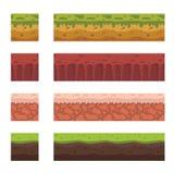 Elementi senza cuciture del paesaggio per progettazione del gioco Fotografie Stock