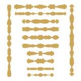 Elementi simmetrici colorati oro della decorazione della pagina illustrazione vettoriale