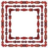 Elementi simmetrici Ornately colorati della decorazione della pagina royalty illustrazione gratis