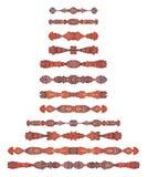 Elementi simmetrici Ornately colorati della decorazione della pagina illustrazione di stock