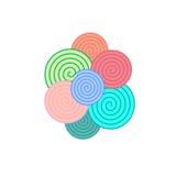 Elementi a spirale semplici variopinti, Fotografie Stock