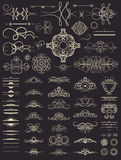 Elementi stabiliti della decorazione dell'annata Decorazione per il logo, album o di nozze Fotografia Stock Libera da Diritti