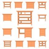 Elementi stabiliti della mobilia di vettore wardrobe Fotografia Stock