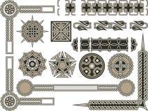 Elementi tradizionali celtici Immagini Stock