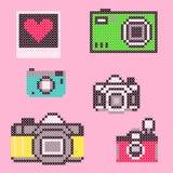 Elementi trasversali della macchina fotografica del punto di vettore fotografia stock