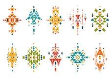 Elementi tribali di vettore Fotografia Stock