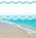 Elementi tropicali di disegno della spiaggia della sabbia Fotografie Stock