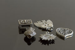 Elementi turchi dei gioielli di modo - argento Immagini Stock