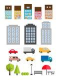 Elementi urbani di architettura del pæsaggio Illustrazione di Stock