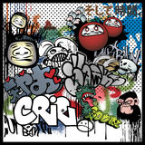 Elementi urbani di arte dei graffiti Fotografia Stock
