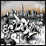 Elementi urbani di arte dei graffiti royalty illustrazione gratis