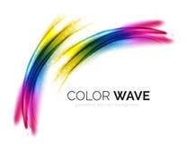 Elementi vaghi di progettazione dell'onda di vettore Fotografia Stock