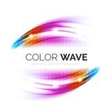 Elementi vaghi di progettazione dell'onda di vettore Fotografie Stock