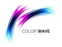 Elementi vaghi di progettazione dell'onda di vettore Immagine Stock