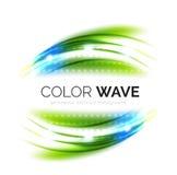Elementi vaghi di progettazione dell'onda di vettore Immagini Stock Libere da Diritti