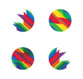 Elementi variopinti di disegno di marchio di vettore Fotografia Stock Libera da Diritti