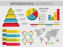Elementi variopinti di infographics per l'affare Fotografie Stock Libere da Diritti