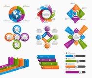 Elementi variopinti stabiliti di progettazione di infographics Immagine Stock Libera da Diritti