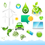 Elementi verdi di energia Fotografia Stock Libera da Diritti