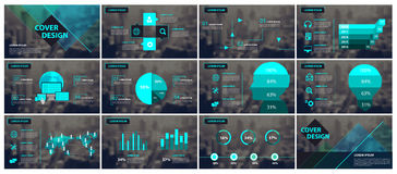 Elementi verdi e neri per il infographics Fotografie Stock