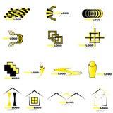 elementlogovektor Stock Illustrationer