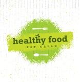 Elemento áspero del diseño del vector de la comida del estilo orgánico sano de Paleo en fondo de la cartulina stock de ilustración