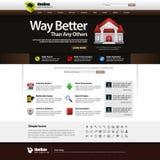 Elemento 14 (tema escuro) Vect do molde do projeto de Web Fotografia de Stock Royalty Free