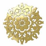 Elemento 3D floral decorativo Fotos de Stock