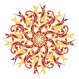 Elemento abstracto creativo de la decoración aislado en el backgroun blanco Imagen de archivo libre de regalías