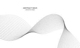 Elemento abstracto de la onda para el diseño Equalizador de la pista de la frecuencia de Digitaces Línea estilizada fondo del art Fotos de archivo