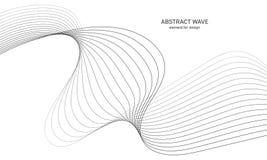 Elemento abstracto de la onda para el diseño Equalizador de la pista de la frecuencia de Digitaces Línea estilizada fondo del art Fotografía de archivo libre de regalías