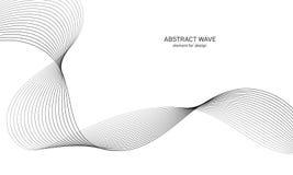Elemento abstracto de la onda para el diseño Equalizador de la pista de la frecuencia de Digitaces Línea estilizada fondo del art Fotos de archivo libres de regalías