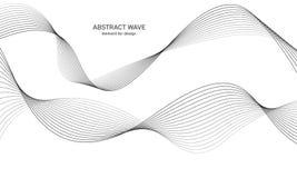 Elemento abstracto de la onda para el diseño Equalizador de la pista de la frecuencia de Digitaces Línea estilizada fondo del art Imagen de archivo libre de regalías